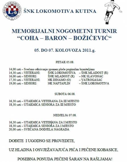"""Memorijalni turnir """"Coha-Baron-Božičević"""""""