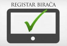 Objavljen Registar birača