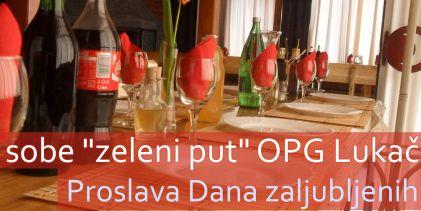 Proslava Dana zaljubljenih u Zelenom putu OPG Lukač