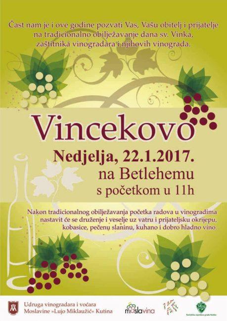 Vinogradari pozivaju na Vincekovo sutra na Betlehemu